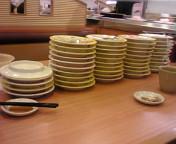 本日の夕飯:<br />  回転寿司