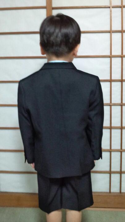 初スーツ姿